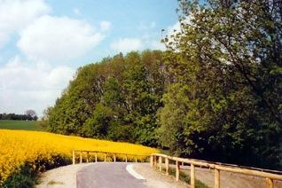 Radwanderweg bei Klink
